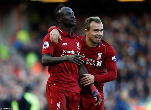 Mane và Shaqiri đều ghi bàn thắng cho Liverpool