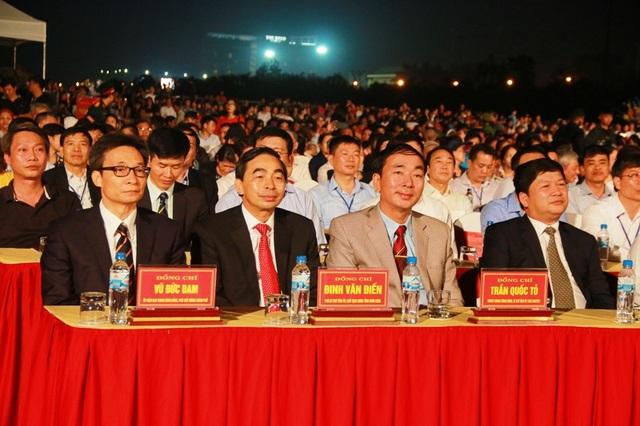 Phó Thủ tướng Vũ Đức Đam dự khai mạc lễ hội Văn hóa, Thể thao và Du lịch quốc gia năm 2018 tối 28/10 tại Ninh Bình.