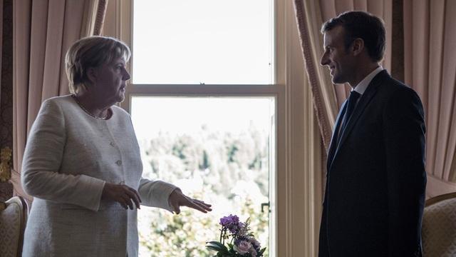 Thủ tướng Đức Angela Merkel và Tổng thống Pháp Emmanuel Macron (Ảnh: Global Look Express)