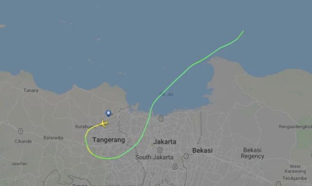 Máy bay biến mất khỏi màn hình không lâu sau khi cất cánh. (Ảnh: Flightradar24)