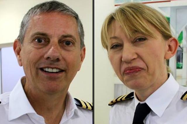 Hai phi công Eric Swaffer và Izabela Roza Lechowicz (Ảnh: The Times)