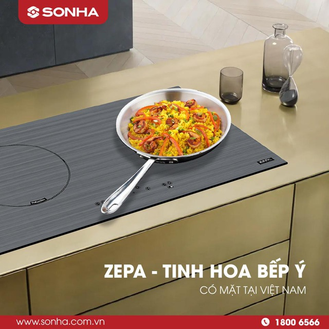 Bếp điện từ Zepa – tinh hoa bếp Ý có mặt tại Việt Nam.