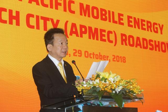 Ông Đỗ Quang Hiển, Chủ tịch kiêm Tổng giám đốc Công ty Cổ phần Tập đoàn T&T Group phát biểu tại hội thảo. (Ảnh: Hồng Vân)