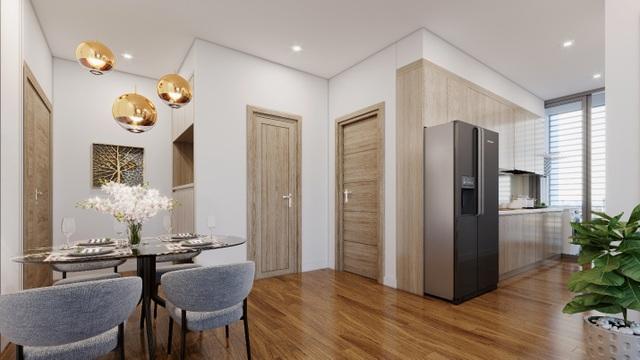 Các căn hộ của Eco Green đều được phủ sàn gỗ loại dày nhất 12mm cho 100% diện tích. Bếp và máy hút mùi đến từ thương hiệu Teka/Bosh, kính hộp Solar Control 2 lớp chống nóng, chống ồn…