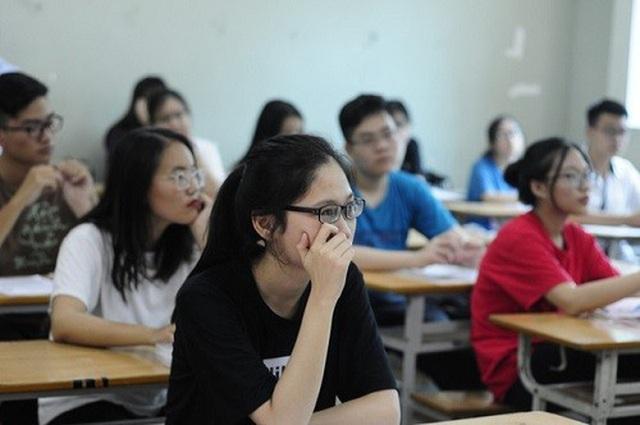 Thí sinh căng thẳng trong thi THPT quốc gia