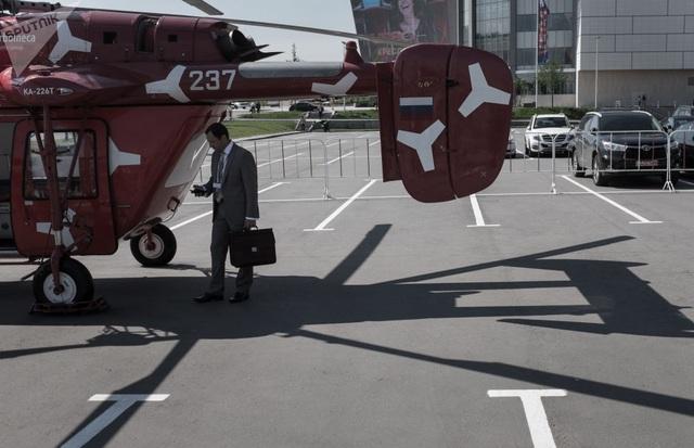 Trực thăng KA-226T được trưng bày tại triển lãm công nghiệp trực thăng quốc tế lần thứ 8 HeliRussia 2015 ở Moscow.