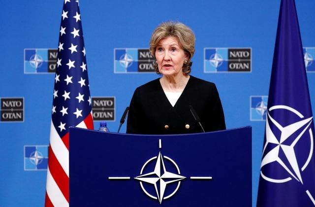 Đại diện thường trực của Mỹ tại NATO, bà Kay Bailey Hutchison (Ảnh: Reuters)