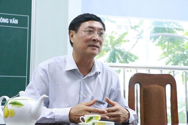 Ông Nguyễn Quốc Bình, Hiệu trưởng THCS-THPT Lê Quý Đôn (Hà Nội). (Ảnh: Đ.T).