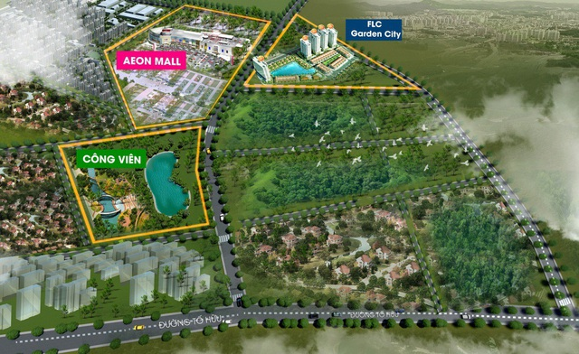 FLC Garden City sở hữu vị trí gần Aeon Mall Hà Đông