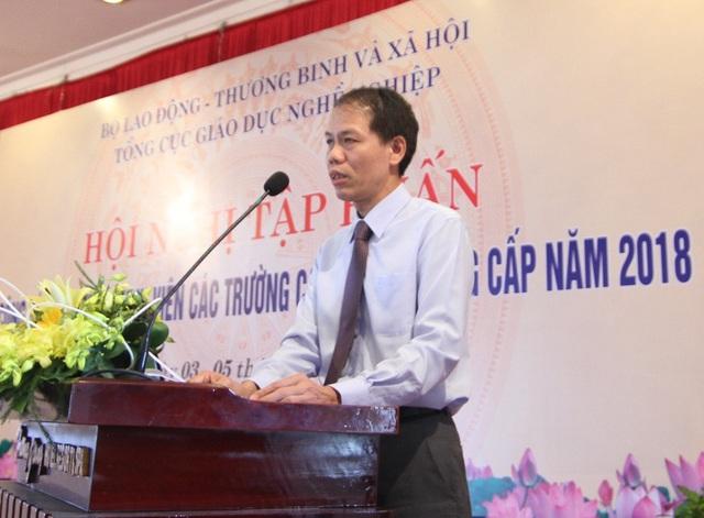 Ông Đỗ Năng Khánh, Phó Tổng Cục trưởng Tổng Cục Giáo dục Nghề nghiệp, Bộ LĐ,TB&XH phát biểu chỉ đạo