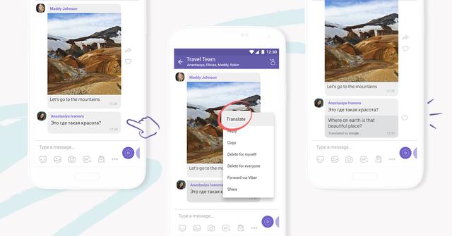 Viber tung tính năng chuyển đổi ngôn ngữ ngay trên ứng dụng