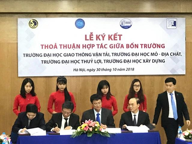 4 trường đại học ký thỏa thuận hợp tác