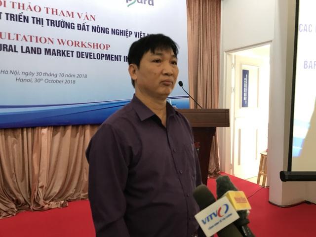 Ông Ngô Mạnh Ngọc, Phó Giám đốc Sở Nông nghiệp tỉnh Hà Nam