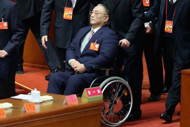 Ông Đặng Phác Phương, con trai cố lãnh đạo Đặng Tiểu Bình, dự đại hội đảng Cộng sản Trung Quốc tại Bắc Kinh năm 2012. (Ảnh: Getty)