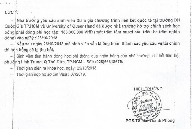 Một văn bản giả khác lại ghi PGS.TS Mai Thanh Phong ký tên
