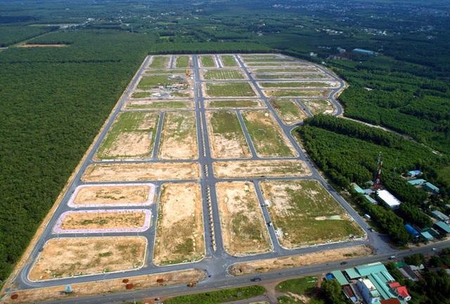 Khu đất đang được triển khai thu hồi, giải phóng mặt bằng để làm sân bay Long Thành