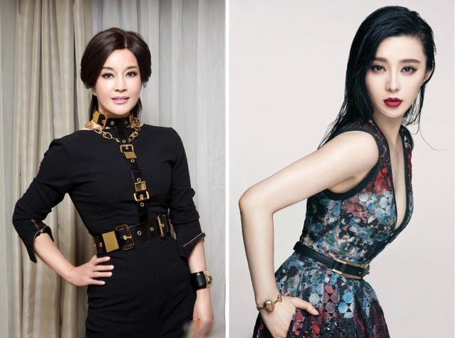 Hai nữ diễn viên Lưu Hiểu Khánh (trái) - Phạm Băng Băng (phải)