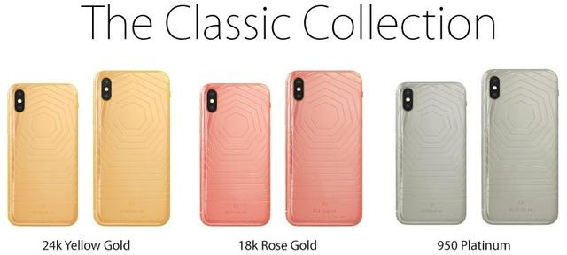 Phiên bản iPhone XS/XS Max cổ điển với vàng 24K, vàng hồng 18K, bạch kim 950