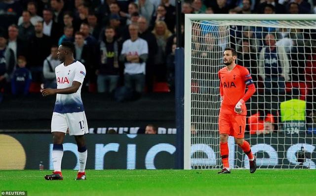 Sự thất vọng của các cầu thủ Tottenham