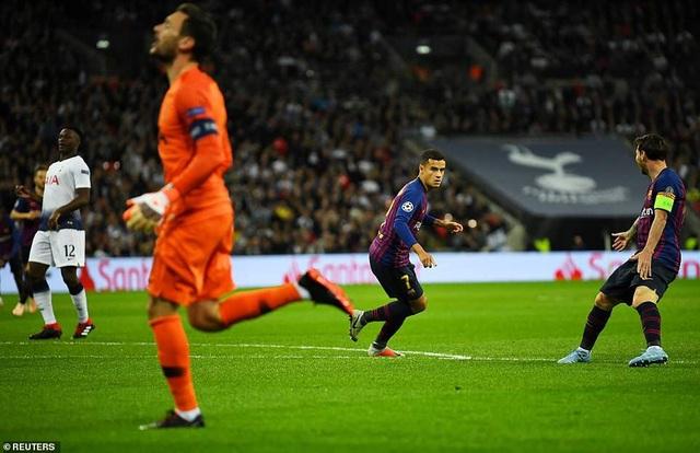Coutinho mở tỷ số cho Barcelona ngay ở phút thứ 2
