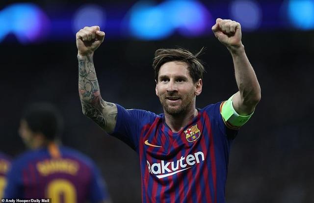 Messi nâng tỷ số lên 3-1 cho Barcelona ở phút 57