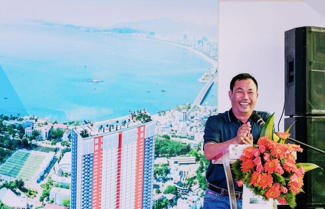 Ông Lê Văn Dũng, Tổng giám đốc Công ty TNHH Cat Tiger Khareal, chủ đầu tư dự án Napoleon Castle 1 chia sẻ tại sự kiện