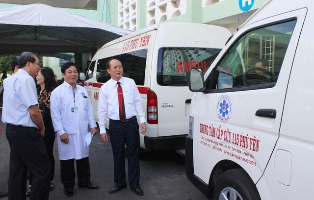 Trung tâm cấp cứu 115 được trang bị 4 xe cấp cứu với trang thiết bị hiện đại