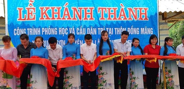 Khánh thành công trình phòng học và cầu Dân trí tại điểm trường Đồng Măng, Phú Thọ - Ảnh 6.