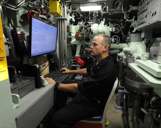 Đây là văn phòng của người chỉ huy tàu ngầm.