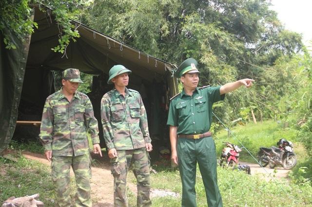 Lực lượng biên phòng tuần tra dọc tuyến biên giới.