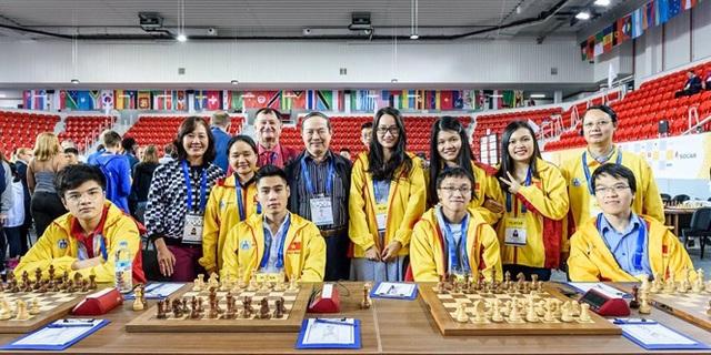 Đoàn Việt Nam thi đấu thành công tại giải cờ vua đồng đội thế giới 2018