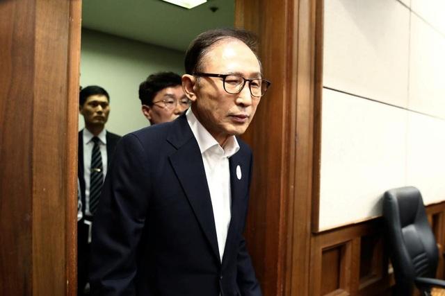 Cựu Tổng thống Hàn Quốc trong phiên xét xử hồi tháng 5/2018 (Ảnh: Reuters)