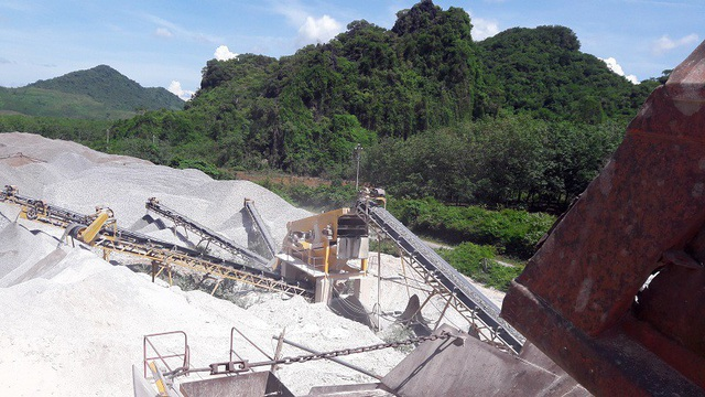 Tại Quảng Bình hiện có gần 40 đơn vị, doanh nghiệp được cấp phép khai thác đá.