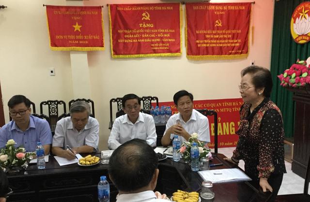Chủ tịch Nguyễn Thị Doan đã ghi nhận và đánh giá cao những kết quả đã đạt được trong phong trào khuyến học, khuyến tài, xây dựng xã hội học tập của tỉnh Hà Nam