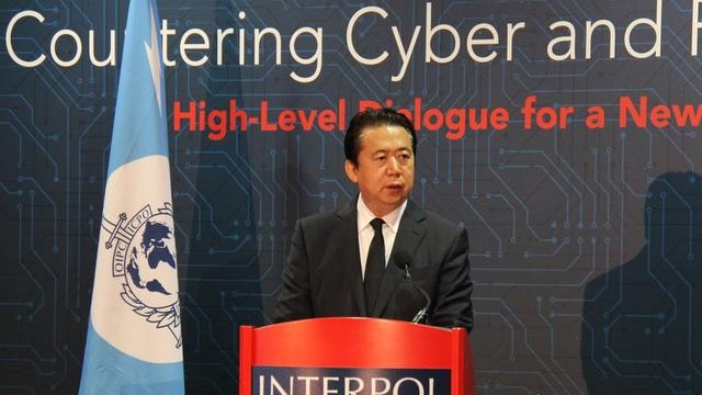 Ông Meng Hongwei, Giám đốc Tổ chức Cảnh sát Hình sự quốc tế (Interpol) (Ảnh: Global Look Press)