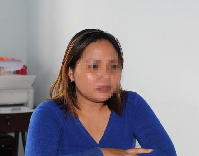 Nguyễn Thị H.H. tại cơ quan công an