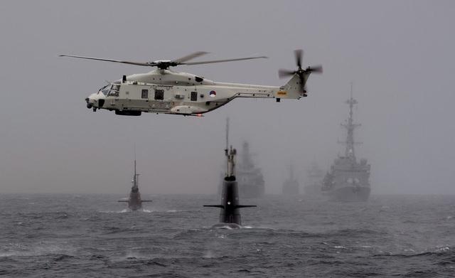 NATO tập trận chống ngầm ở vùng biển ngoài khơi Na Uy năm 2015 (Ảnh: Reuters)