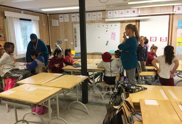 Khung cảnh lớp học của học sinh lớp 2 tại trường Vesala (Phần Lan).