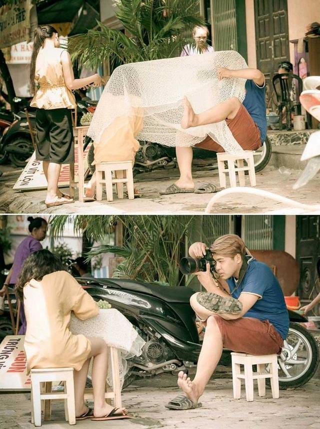 Những hình ảnh đẹp không góc chết của cô bé 14 tuổi xứ Thanh này khiến người ta không thể nào rời mắt được. Nhưng đằng sau hậu trường bộ ảnh lại vô cùng bất ngờ. Nhiếp ảnh gia Lê Phương Nam tiết lộ rằng địa điểm chụp ảnh ở phố Hàng Than, Thanh Hóa.