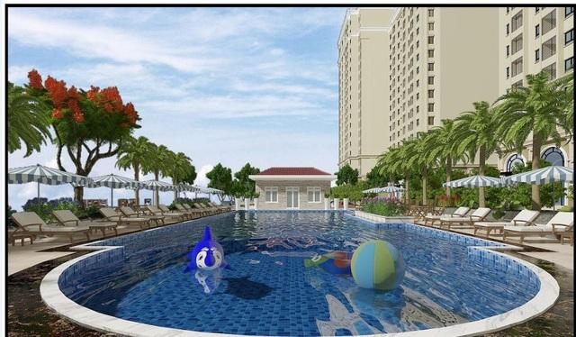 Cư dân thỏa sức bơi lội, vui chơi, tập thể dục rèn luyện sức khỏe ngay trong nội khu dự án.