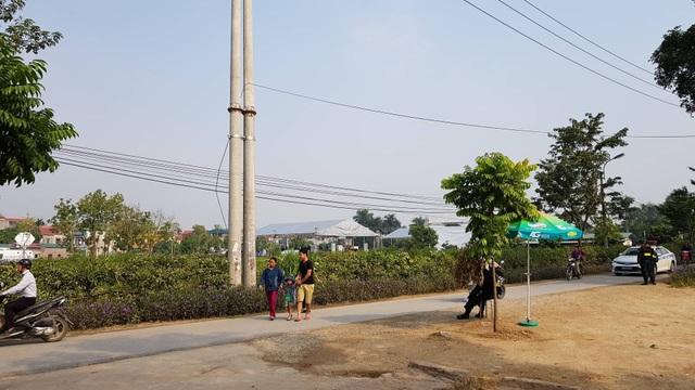 Con đường dẫn vào khu an táng nguyên Tổng Bí thư Đỗ Mười