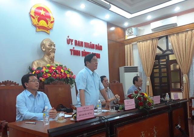 Lãnh đạo tỉnh Bình Định kiến nghị nhiều bất cập, bức xúc trong lĩnh vực giao thông tồn tại tại địa phương trong buổi làm việc với Bộ trưởng Bộ GTVT Nguyễn Văn Thể.