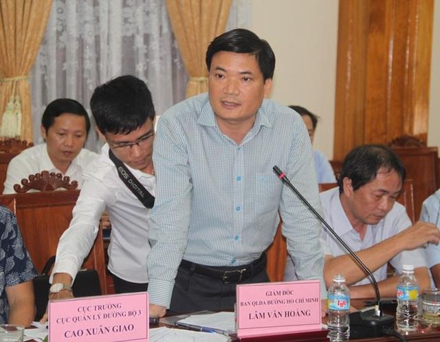 Đại diện Ban Quản lý dự án đường Hồ Chí Minh cam kết khắc phục xong trong năm 2018.