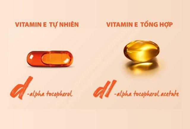 Nhận biết Vitamin E tự nhiên và Vitamin E tổng hợp qua cấu tạo