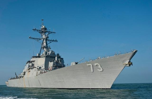 Tàu khu trục mang tên lửa dẫn đường USS Decatur (Ảnh: US Navy)