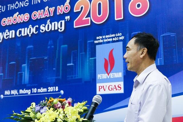PGS, TS Lê Xuân Đình tại buổi họp báo về chương trình Tháng phòng chống cháy nổ 2018 - Vì bình yên cuộc sống