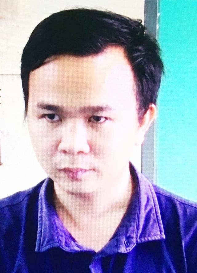 Đối tượng Trần Văn Khánh tại cơ quan điều tra.