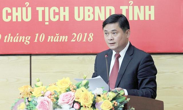 Ông Thái Thanh Quý - Chủ tịch UBND tỉnh Nghệ An phát biểu cảm ơn và hứa sẽ cùng với tập thể các thành viên UBND tỉnh tiếp tục đoàn kết, cộng sự thực hiện tốt các nhiệm vụ.