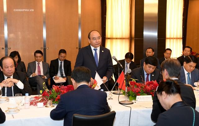Thủ tướng Nguyễn Xuân Phúc toạ đàm với các doanh nghiệp Nhật Bản (ảnh: VGP)