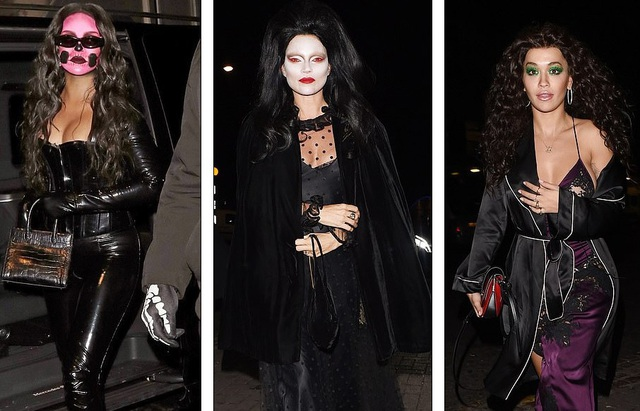 Rihanna cùng Kate Moss và Rita Ora dự tiệc Halloween tại London, Anh quốc ngày 31/10 vừa qua